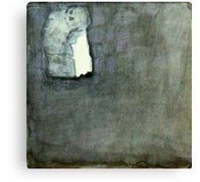 inside the darkened and almost abandoned chapel Canvas Print