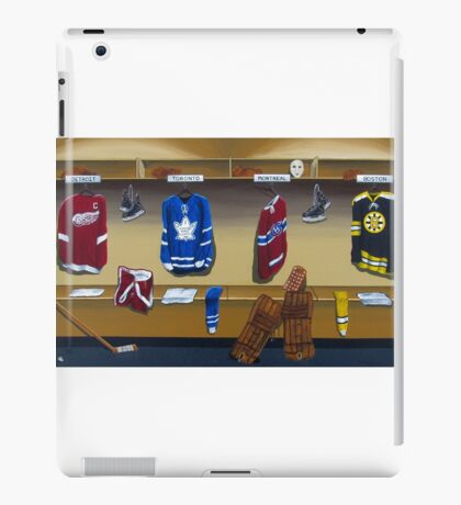 nhl original 6 painting iPad Case/Skin
