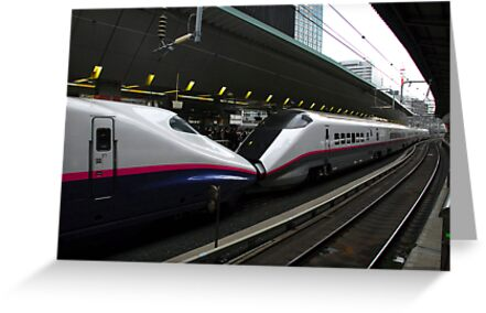 Two Bullet trains - Tokyo by iansimages