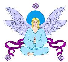 Royal Yoga Angel by redqueenself