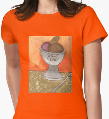 Creme Glacee'(Ice Cream) Womens Fitted T-Shirt