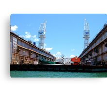 Forjac's Floating Dock - Newcastle Harbour Canvas Print