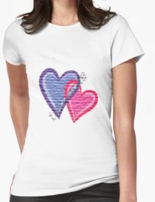 lovely hearts Womens Fitted T-Shirt