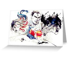Justice League Splash Art Greeting Card