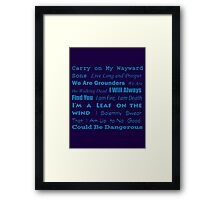 Multi Fandom Anthem Framed Print