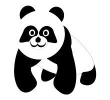 Black And White Panda Bear by biglnet