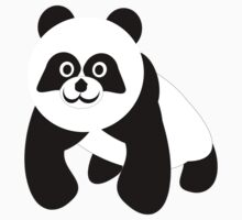 Black And White Panda Bear Kids Clothes