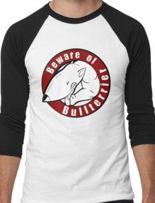 Beware of the Bull Terrier! Men's Baseball ¾ T-Shirt