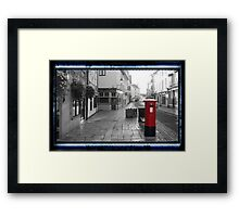 Time Travel Postbox Framed Print