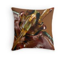 Insect Warrior Throw Pillow