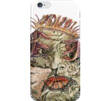the face in my bedspread iPhone Case/Skin