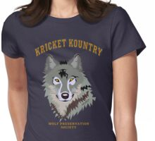 KRICKET KOUNTRY WOLF PRESERVATION (Official Tee design!) Womens Fitted T-Shirt