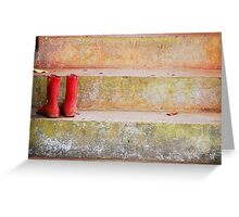 The Red Boots Greeting Card