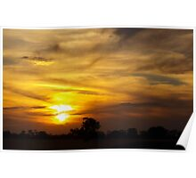 Mosaic Clouds Poster