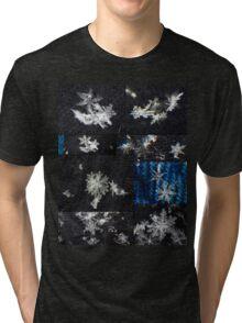Macro Snowflakes Tri-blend T-Shirt