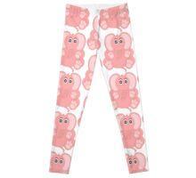 Sitting Pink Elephant Leggings