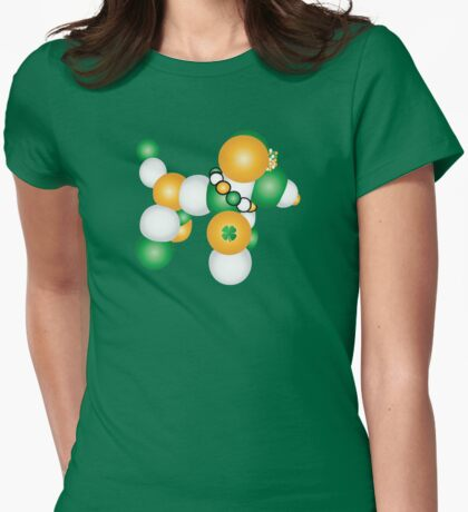 St. Paddy's Dog Womens Fitted T-Shirt