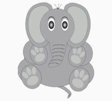 Sitting Grey Elephant Kids Clothes