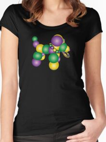 Mardi Gras Dog Women's Fitted Scoop T-Shirt
