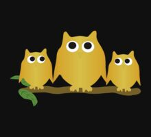 Gold Owls On A Branch Kids Clothes