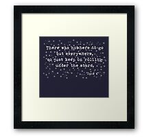 Under the stars. Kerouac Framed Print