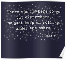 Under the stars. Kerouac Poster