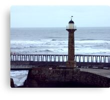 Harbour Light - Whitby Canvas Print