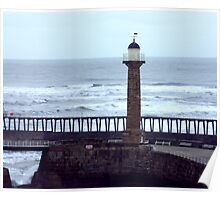 Harbour Light - Whitby Poster