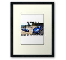 Subaru.. Best of Both Worlds Framed Print