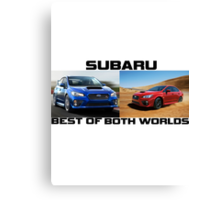 Subaru are the Best of Both Worlds Canvas Print