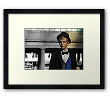 Male Model: A face in the crowd Framed Print