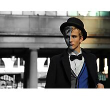 Male Model: A face in the crowd Photographic Print