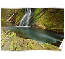 Water falling in Cheran river Poster