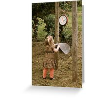 Leaning scale Greeting Card