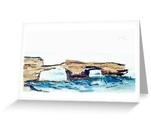 London Bridge, Portsea (watercolour) Victoria Australia Greeting Card