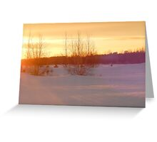 Shades of a winter sunset Greeting Card