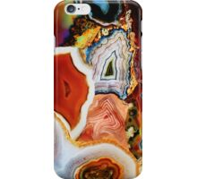 Agates, Layers of Earth, Nature's Colorful Imagination iPhone Case/Skin