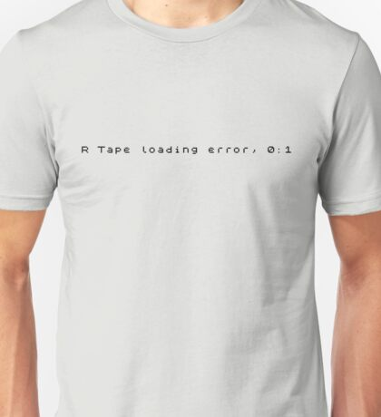 R Tape Loading Error - ZX Spectrum Unisex T-Shirt