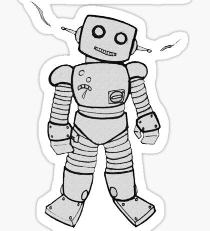 Robot Machines Sticker
