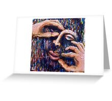 The makers hands. Greeting Card