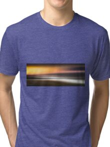 The Loughor estuary in Swansea using motion blur Tri-blend T-Shirt