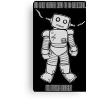 Robot Machines Black Canvas Print