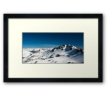 snowy mountains Framed Print