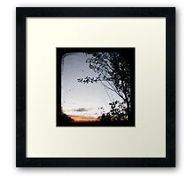 New England Sunset Framed Print