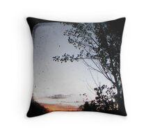 New England Sunset Throw Pillow