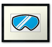 Winter SNOW Goggles  Framed Print