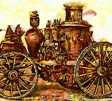 Amoskeag Steam Fire Engine 19th century by Dennis Melling