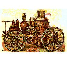 Amoskeag Steam Fire Engine 19th century Photographic Print