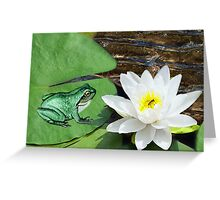 ⊱✿ ✿⊰⊹ ♧ ✿ THIS LILLY PAD IS NOT BIG ENOUGH FOR THE TWO OF US ⊱✿ ✿⊰⊹ ♧ ✿ Greeting Card