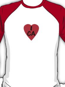 I Love Canada - Country Code CA T-Shirt & Sticker T-Shirt